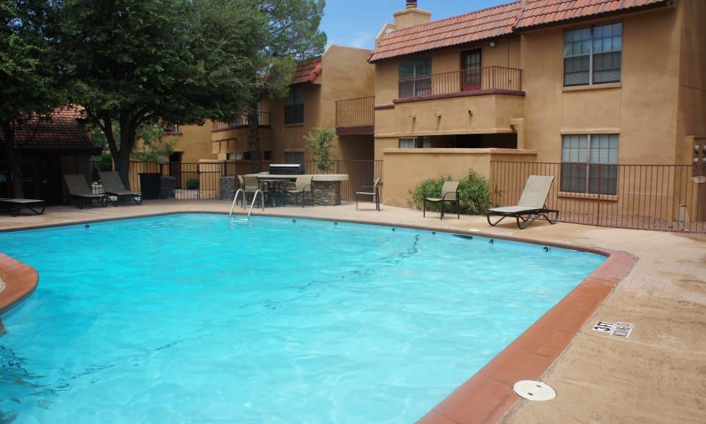 Sparkling pool at Pear Tree in El Paso, Texas