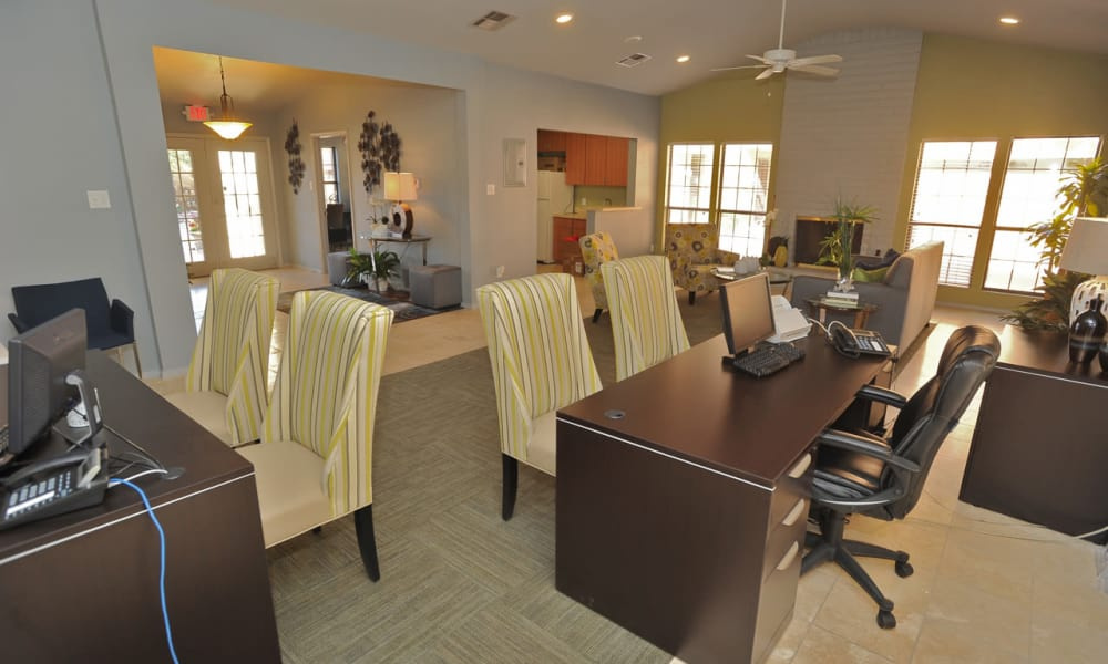 Leasing office at Pear Tree in El Paso