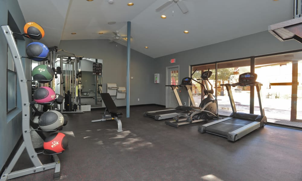 Fitness center at Pear Tree in El Paso