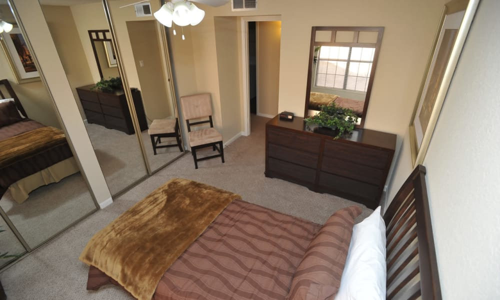 Enjoy an unique bedroom at Pear Tree apartments in El Paso