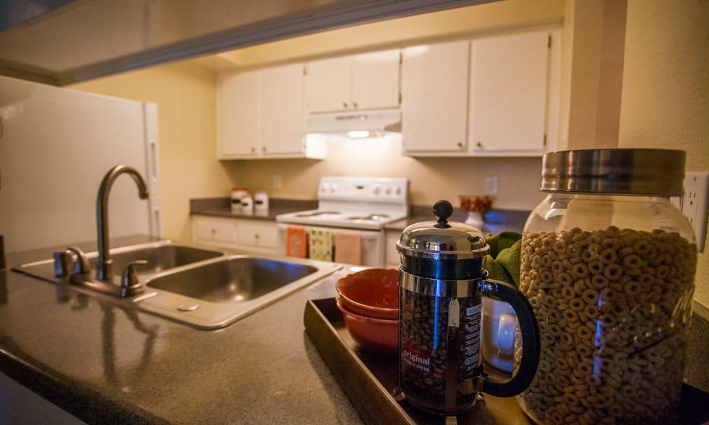 Harvest Glen offers a beautiful kitchen in Rialto, California