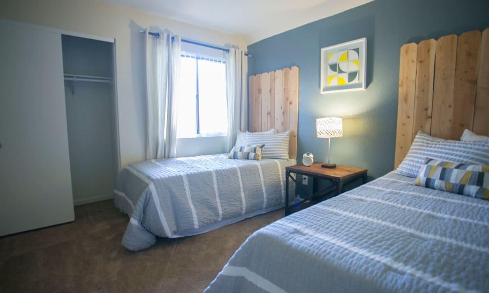 Cozy bedroom at Harvest Glen in Rialto, California