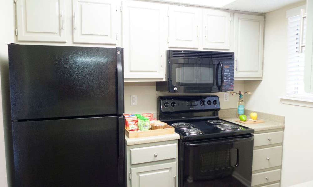 The Annex apartments in Midland showcase a fully equipped kitchen