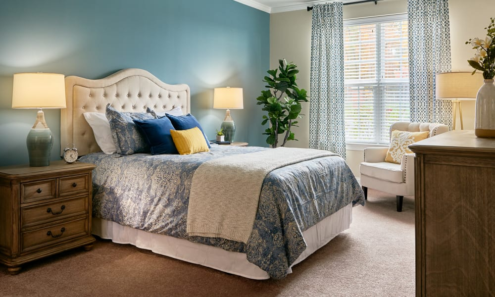 Bedroom at Waltonwood at Ashburn in Ashburn, VA