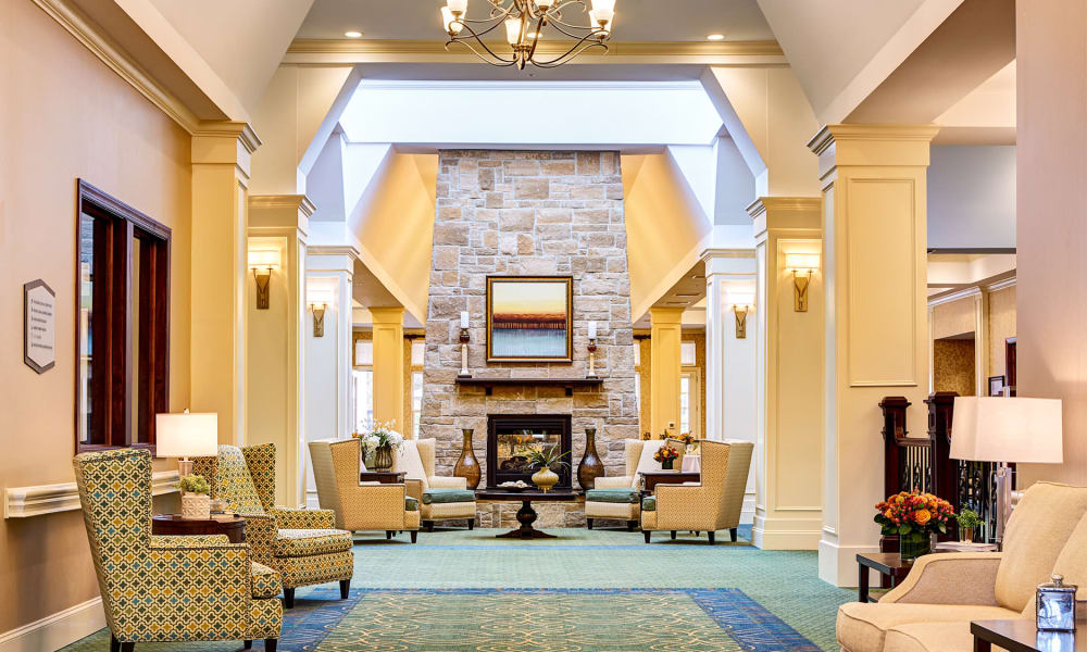 Lobby at Waltonwood at Ashburn in Ashburn, VA