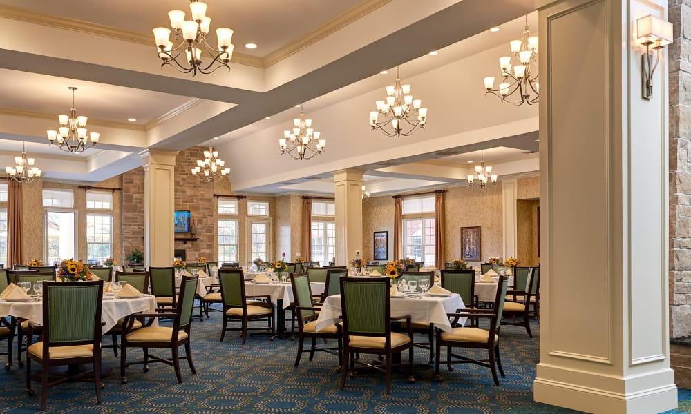 Dining Room at Waltonwood at Ashburn in Ashburn, VA