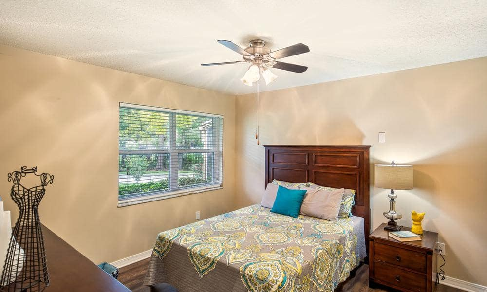 Spacious bedroom at apartments in Jacksonville, FL