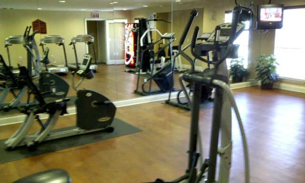 Beautiful fitness center at apartments in Fort Worth, TX