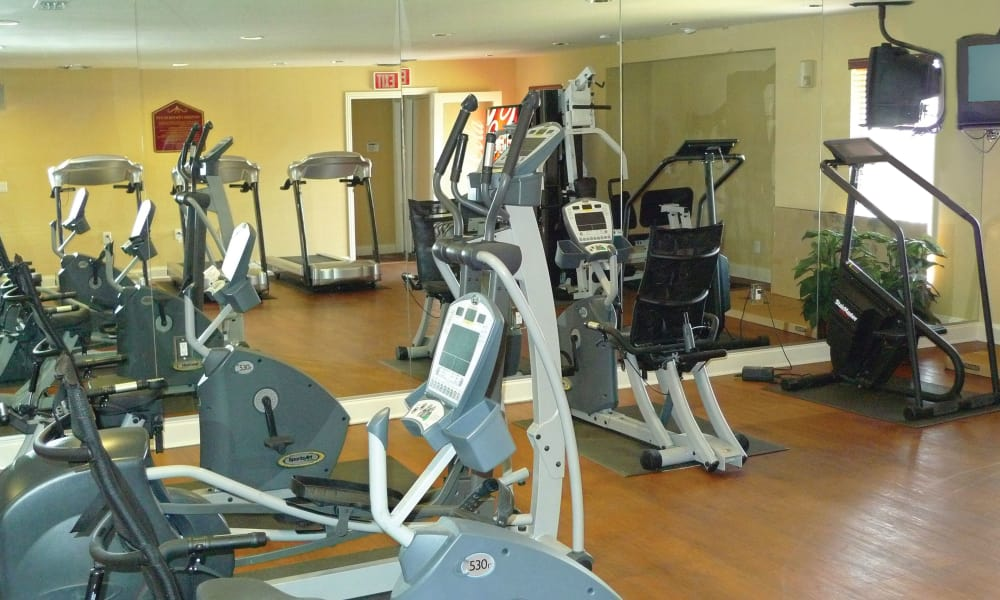 Beautiful fitness center at Ladera Palms in Fort Worth, TX
