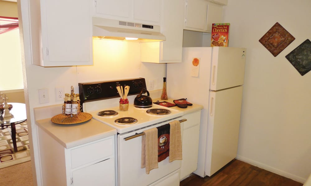 Our apartments in Fort Worth, TX showcase a beautiful kitchen