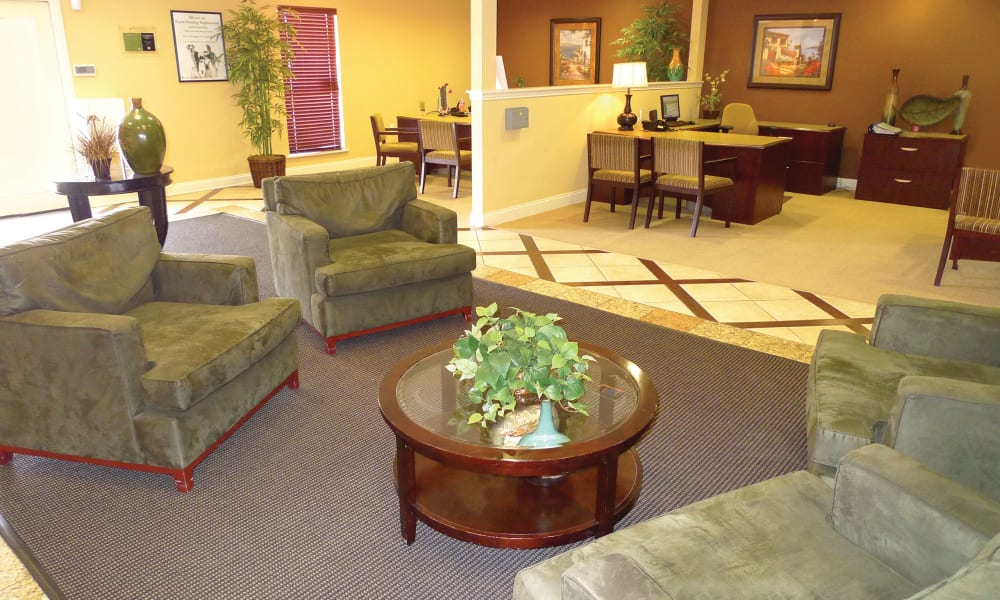 Beautiful living room at Ladera Palms in Fort Worth, TX