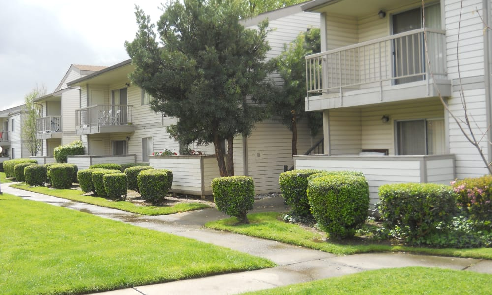 Exterior of our apartments at River Court Apartments in Sacramento, CA