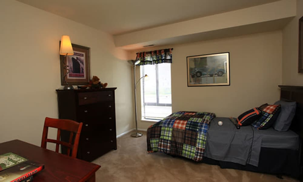 Naturally well-lit bedroom at apartments in Randallstown, Maryland