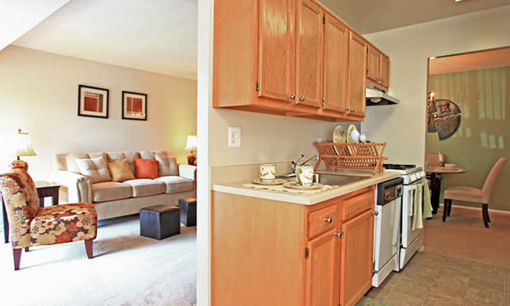 Enjoy apartments with a modern kitchen at Carriage Hill Apartment Homes