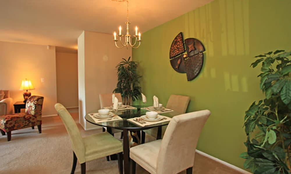 Our apartments in Randallstown, Maryland showcase a beautiful dining table