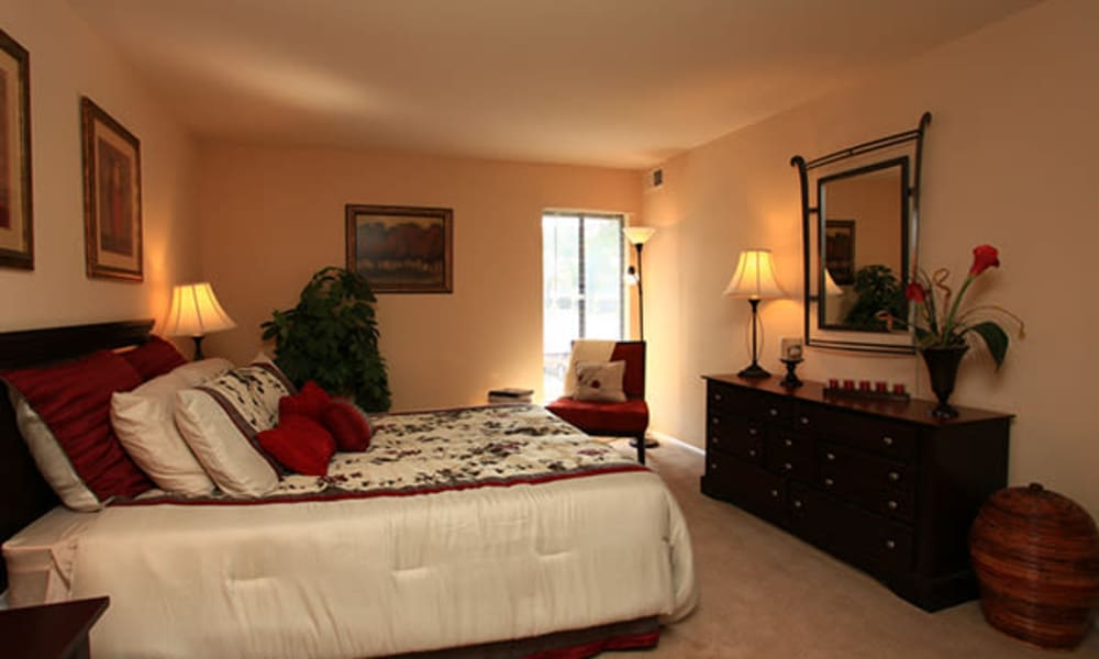 Carriage Hill Apartment Homes offers a bedroom in Randallstown, Maryland