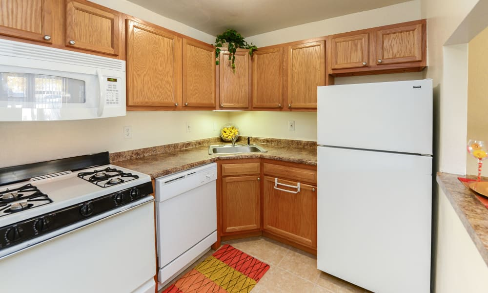 Luxury kitchen at apartments in Collingswood, New Jersey