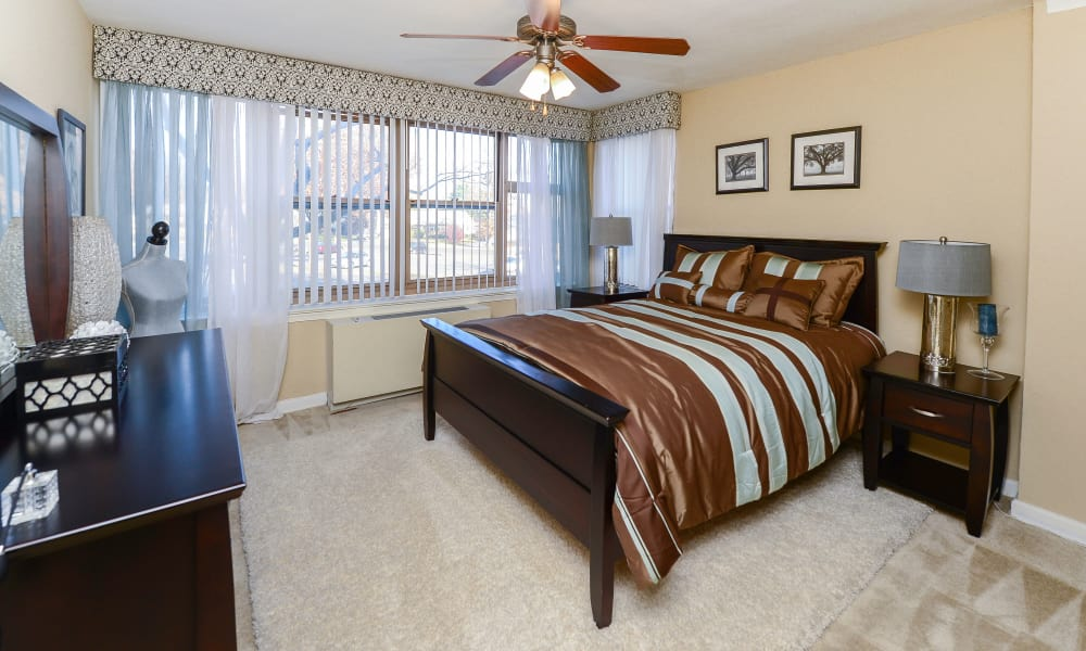 Our apartments in Collingswood, New Jersey showcase a beautiful bedroom