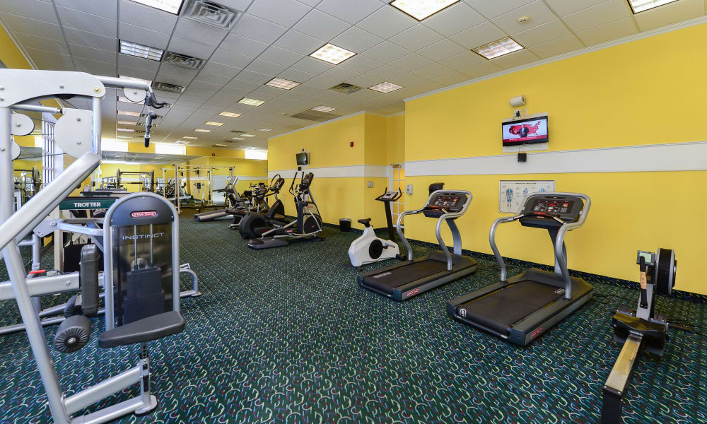 Parkview at Collingswood Apartment Homes offers a modern fitness center in Collingswood, New Jersey