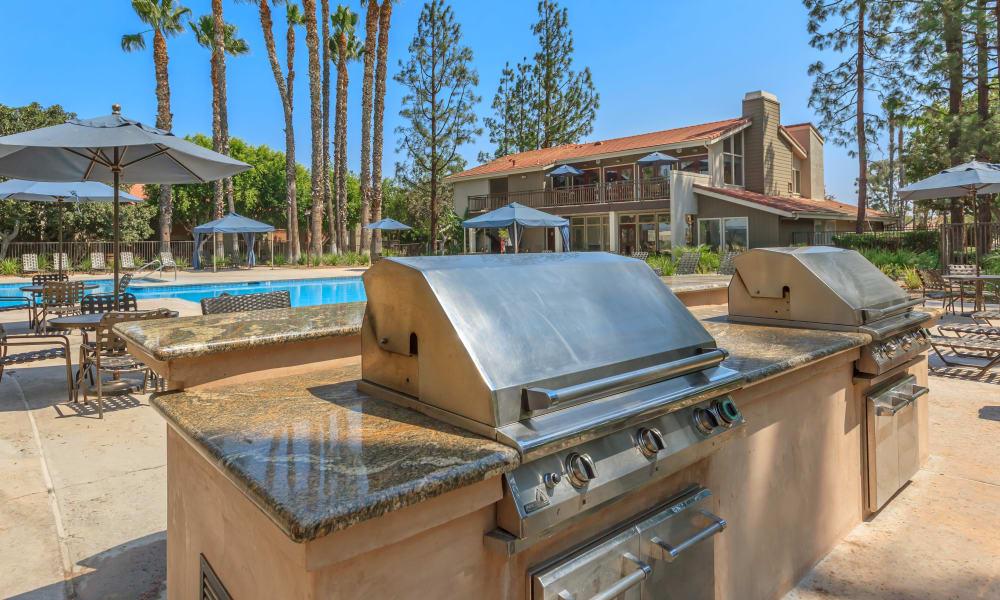Barbecue station at Parcwood Apartments