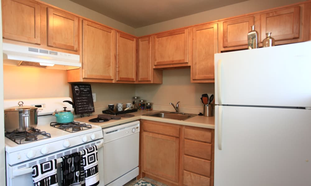Luxury kitchen at apartments in Dundalk, Maryland