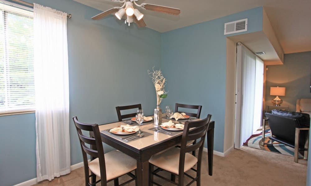 Beautiful dining room at Charlesmont Apartment Homes in Dundalk, Maryland