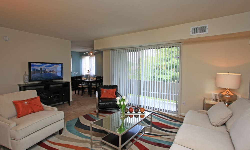 Our apartments in Dundalk, Maryland showcase a beautiful living room