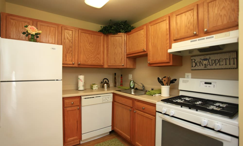 Enjoy apartments with a state-of-the-art kitchen at Gwynn Oaks Landing Apartments & Townhomes