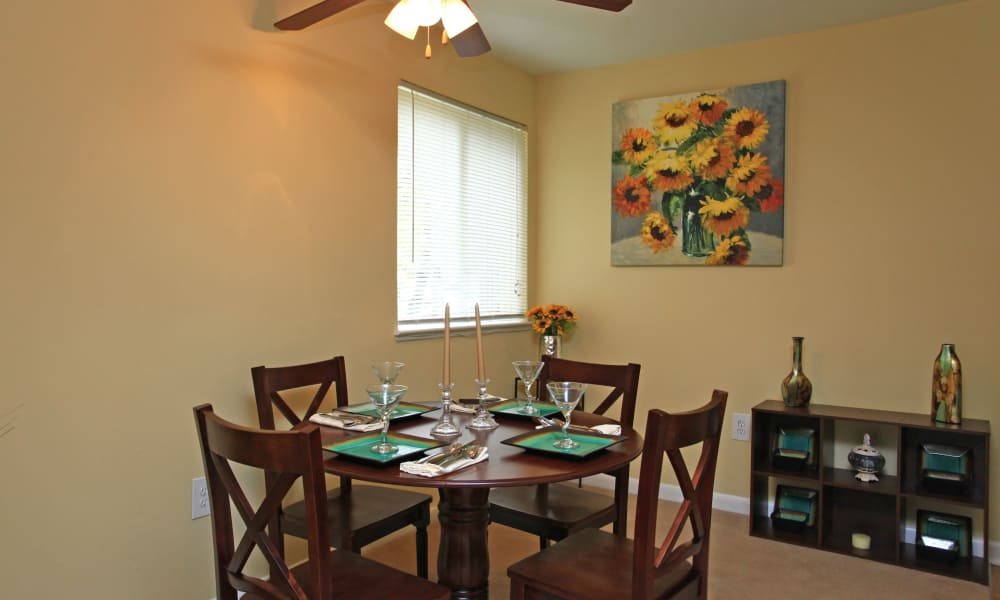 Beautiful dining room at Gwynn Oaks Landing Apartments & Townhomes in Baltimore, Maryland