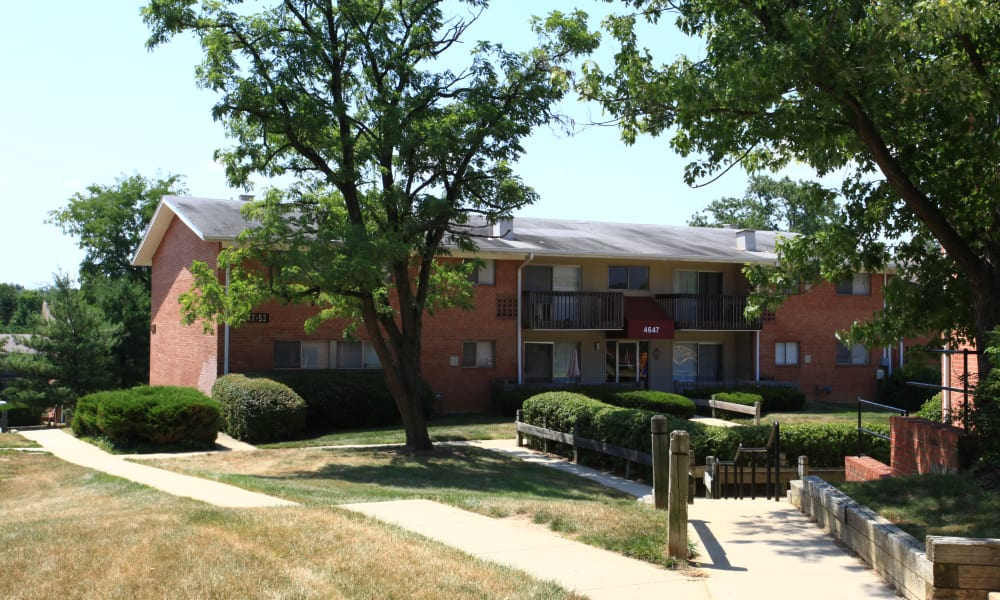 Outside view at apartments in Temple Hills, Maryland