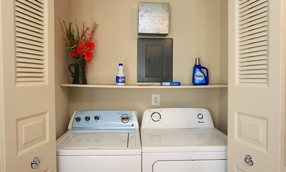 Washer and dryer at Carriage Hill Apartment Homes