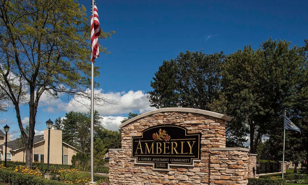 Amberly signage in West Bloomfield, Michigan
