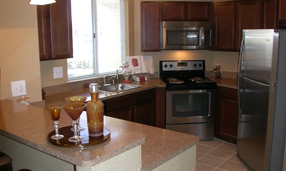 Kitchen at Amberly apartments