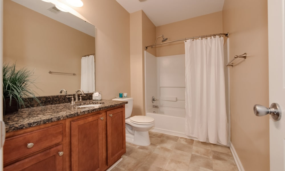 The Waterway Apartment Homes offers a bathroom in Lexington, SC