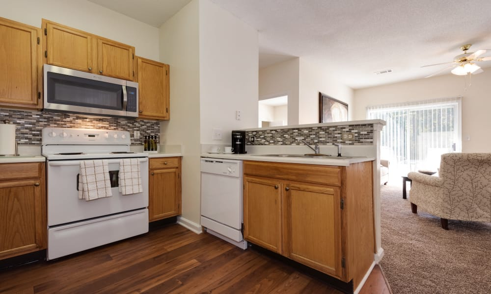 Fully equipped kitchen at The Waterway Apartment Homes