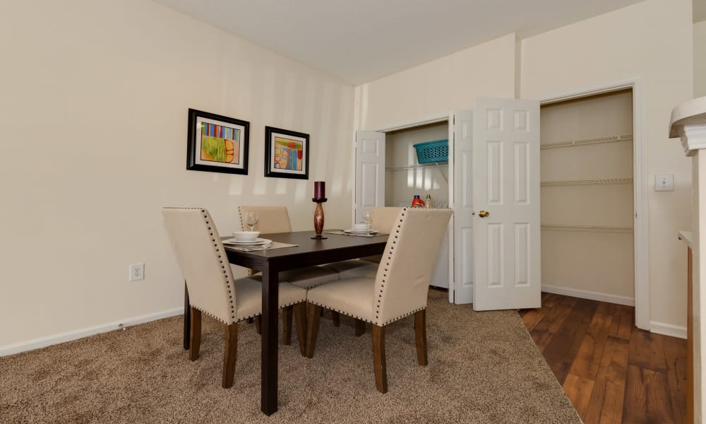 Beautiful dining room at The Waterway Apartment Homes in Lexington, SC