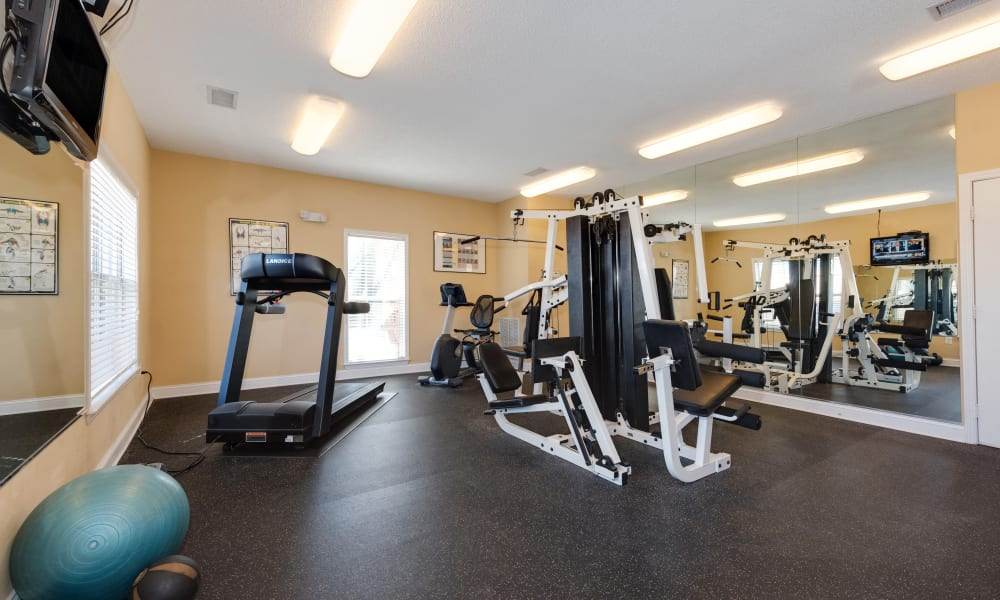 Fitness center at The Waterway Apartment Homes in Lexington, SC