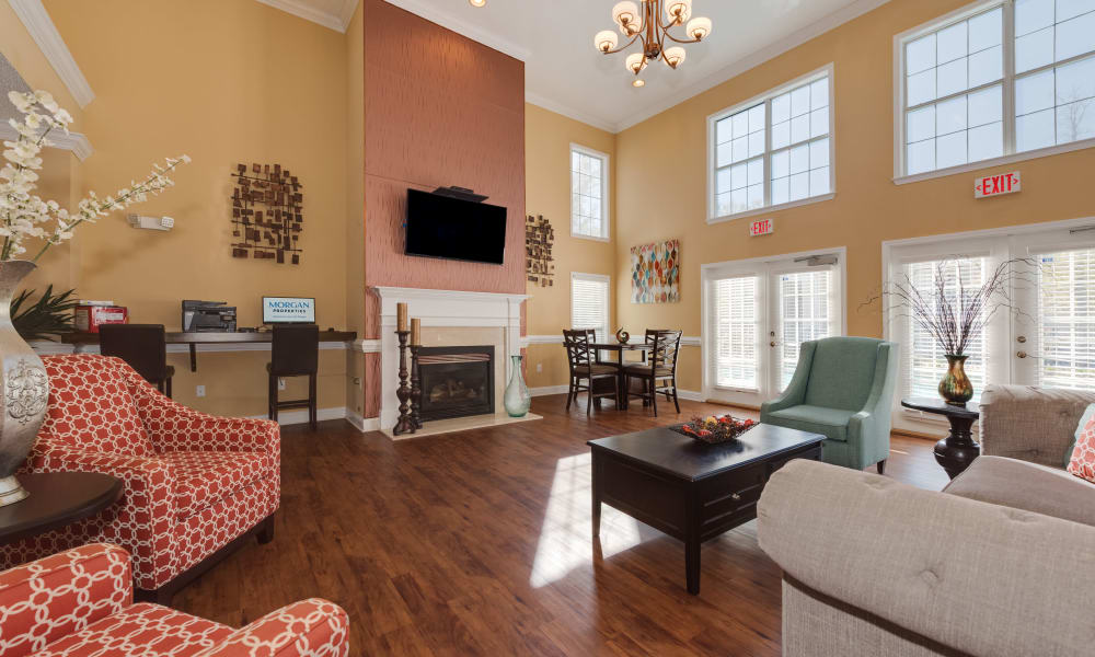 Beautiful clubhouse at The Waterway Apartment Homes in Lexington, SC