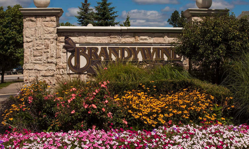 Brandywine signage in West Bloomfield, MI