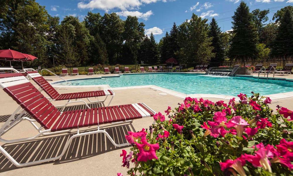 Refreshing pool at Briarcliff Village