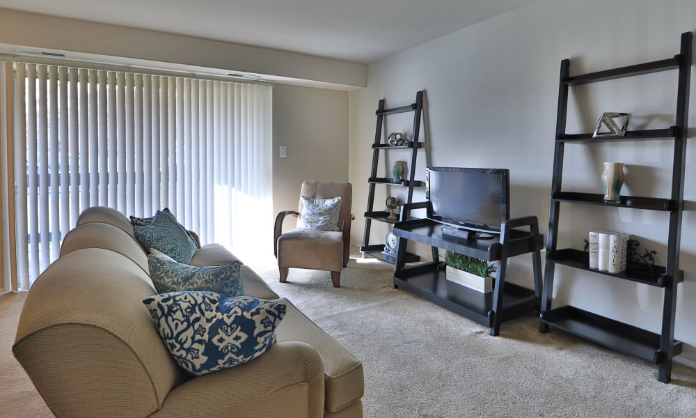 Our apartments in Reisterstown, MD have a naturally well-lit living room