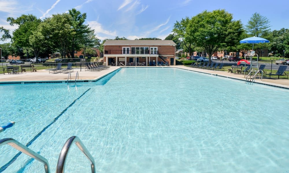 Our apartments in Reisterstown, MD showcase a beautiful swimming pool