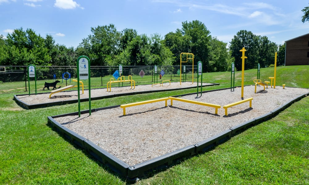 Outdoors health and fitness equipment at The Preserve at Owings Crossing Apartment Homes in Reisterstown, MD