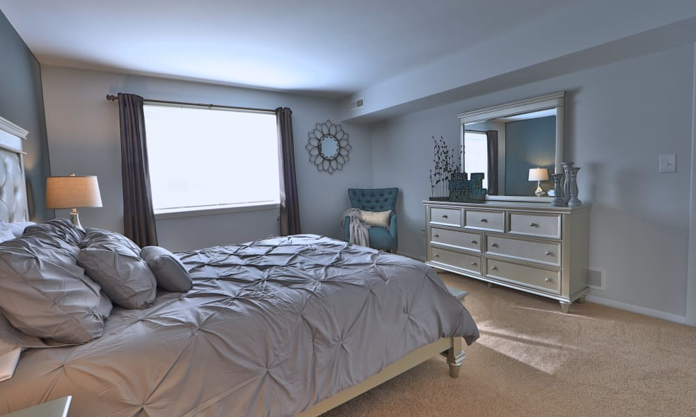 Beautiful bedroom at Willowood Apartment Homes in Westminster, MD