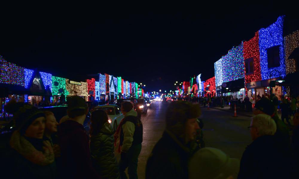 City at night near CiderMill Village