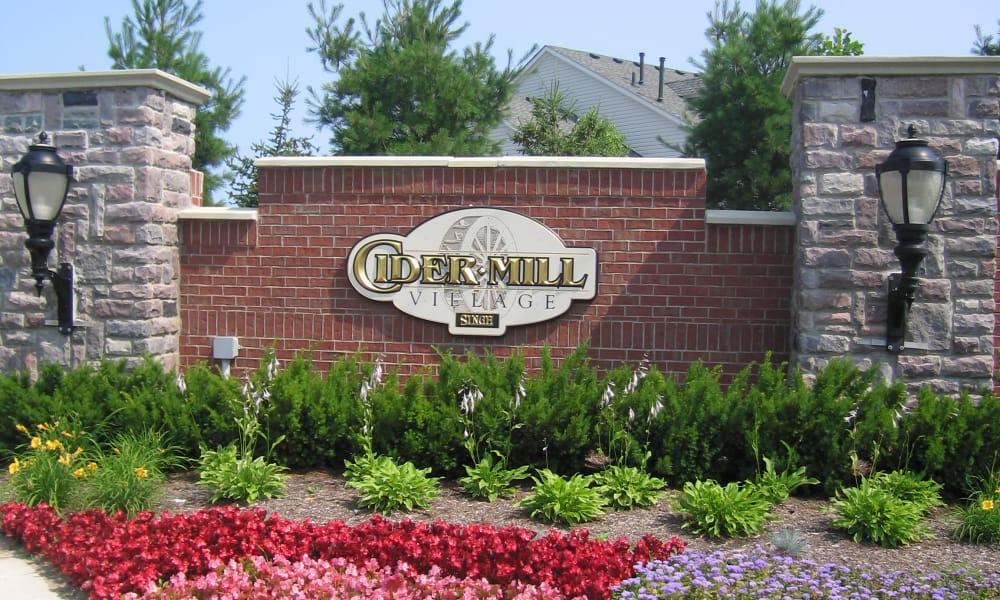 CiderMill Village signage in Rochester Hills