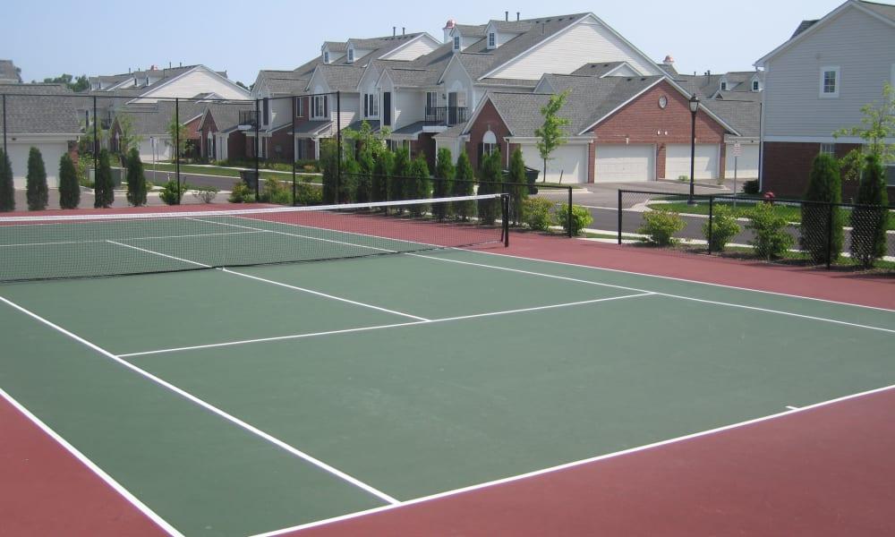 Tennis court at CiderMill Village