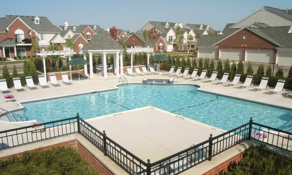 Sundeck and pool at CiderMill Village