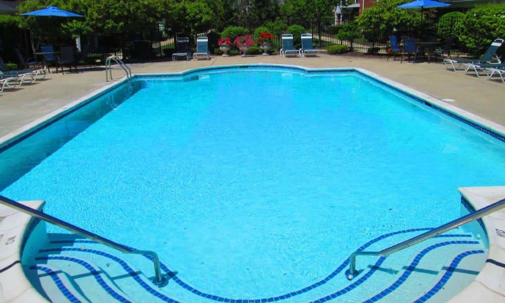 Beautiful swimming pool at Summit Creek in Canton, MI