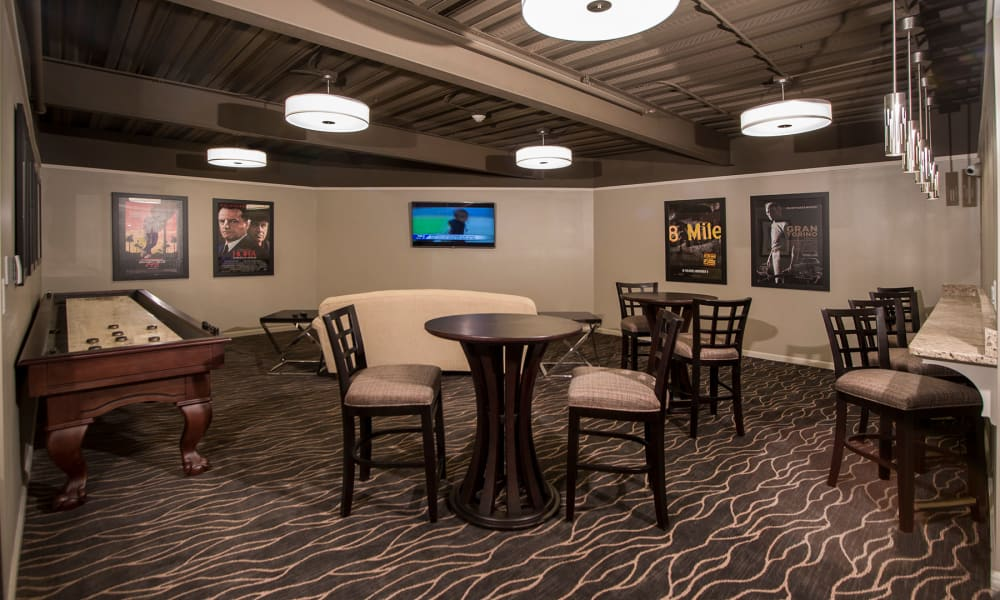 Clubhouse entertainment center at MainCentre